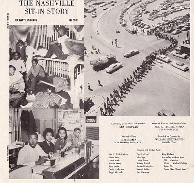 Nashville sit-in story [sound recording] : songs and scenes of Nashville lunch counter desegregation / (by the sit-in participants) ; conceived and directed by Guy Carawan