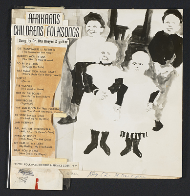 Afrikaans children folksongs [sound recording] / sung ... by Dr. Ora Dreyer