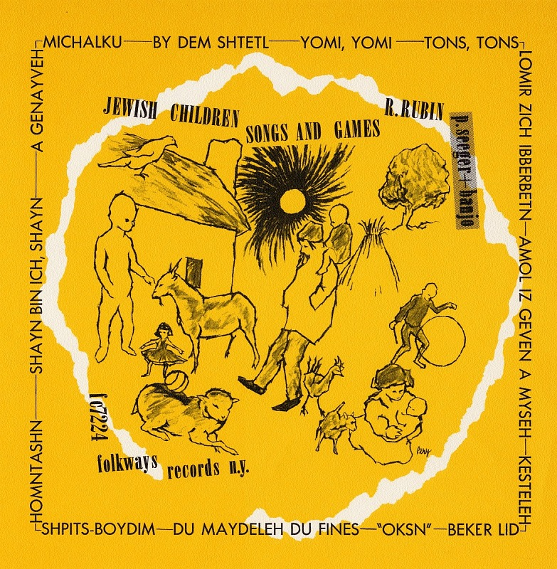 Image for Jewish children's songs and games sound recording / sung by Ruth Rubin ; accompanied by Pete Seeger