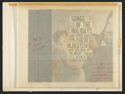 Songs of the holidays and other songs [sound recording] / sung by Gene Bluestein and children of the Mount Zion Hebrew Congregation