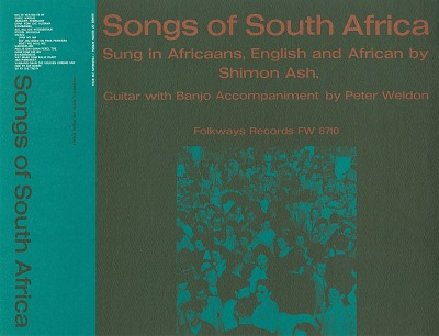 Songs of South Africa [sound recording] / sung by Shimon Ash