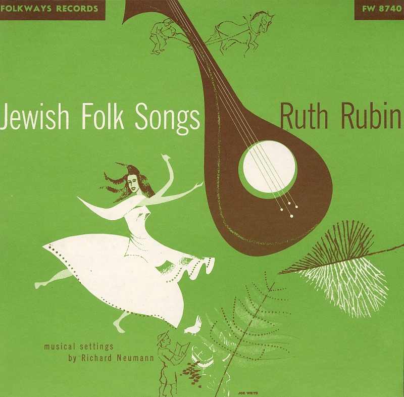 Image for Jewish and Israeli folk songs sound recording / sung by Ruth Rubin