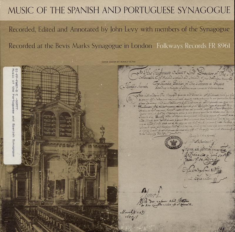 Image for Music of the Spanish and Portuguese Synagogue sound recording / recorded, edited and annotated by John Levy ; with members of the Synagogue