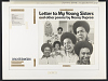 thumbnail for Image 3 - Letter to young sisters and other poems sound recording / by Nancy Dupree
