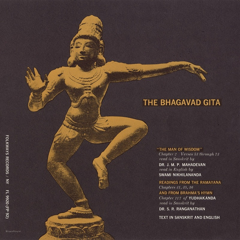 Image for Readings from the Ramayana and Bhagavad Gita sound recording