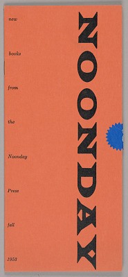 Brochure for New Books from the Noonday Press, Fall 1953