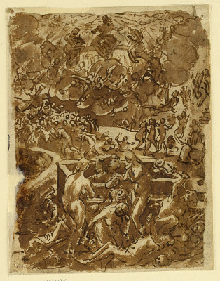 Sketchbook Page with The Last Judgment
