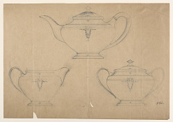 working drawing,tea sets