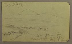 Mountain, landscape; Verso: Tree, Mountains