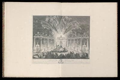 Dessein de l'illumination et du feu d'artifice donné à Monseigneur le Dauphin à Meudon le 3e septembre 1735 (Design of the Illumination and Fireworks dedicated to His Grace the Dauphin at Meudon, September 3rd, 1735)