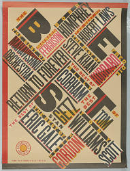 """""""The Best of Jazz"""" poster for New York Public Theater"""