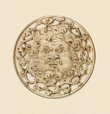 Chased Silver Medallion
