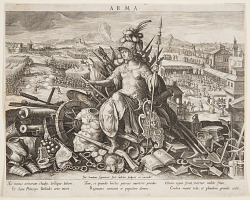 "Minerva, or ""Arma"" (Allegory of the Art of War), pl. 2 in the Schema, seu Speculum Principum (Skills of a Prince) series"