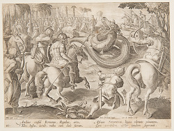 The Roman Consul Attilius Regulus Fighting a Giant African Serpent, plate 25 in the Venationes Ferarum series