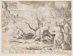 Crocodile Hunt in Tentyra, in Egypt, plate 30 from the Venationes Ferarum, Avium, Piscium series
