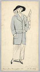 Fashion Design for Ladies' Wear, Drawn from Wanamaker's Coat