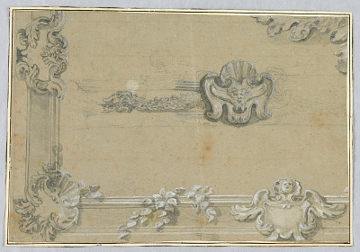 Design for the Stucco Decoration of a Ceiling