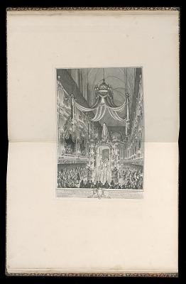 Pompe funèbre de Marie Thérèse d'Espagne Dauphine de France, en l'église de Notre Dame de Paris, le XXIV novembre M.D.CCXLVI (Funeral of Marie Thérèse of Spain, Dauphine of France, in the church of Notre Dame, Paris, November 24, 1746)
