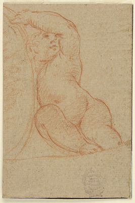 Seated Child Supporting a Medallion