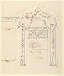 Study 105, Diagram for an Entrance Doorway, General Foods Theme