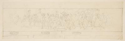 "Study for a procession, ""Vintage Festival,"" Mendelssohn Glee Club, New York, NY"