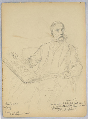 Study for a Portrait of Mr. Morris K. Jesup, Esq. with Study for a Portrait of Mr. Schermerhorn, verso