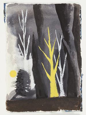 Study for an Illustration, Forest Landscape