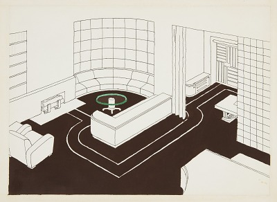 Design for Living Room, George C. and Eleanor Hutton Rand Apartment, 46 Washington Mews, New York, NY