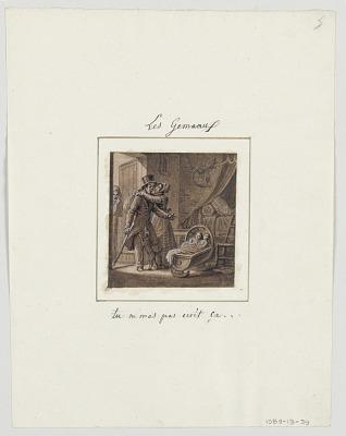 Design for a Painted Porcelain Plate, Les Gémeaux (Gemini) from the Le Zodiaque Travesti (The Farcical Zodiac) Service
