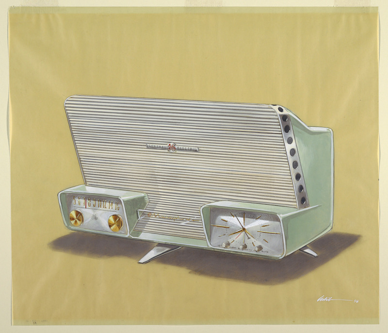 Image for Design for Musaphonic Clock Radio on Legs in Green
