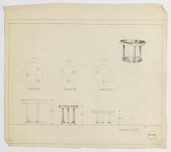 Design for Round Occasional Table, Three Versions