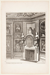 "Corner Chimneypiece, published in ""Nouvelles Chiminees Faitte en Plusier en Droits de la Hollande et Autres Provinces du Dessin de D. Marot"""