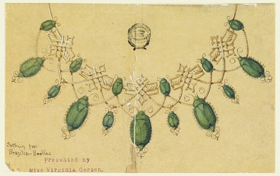 Design for Necklace with Brazilian Beetles
