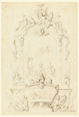 Venus at the Forge of Vulcan, Design for a Sideboard Panel