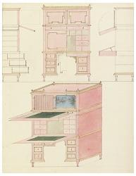 Design for Mechanical Furniture: Secretary Desk