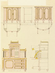 Designs for Mechanical Furniture: Cabinet and Desk