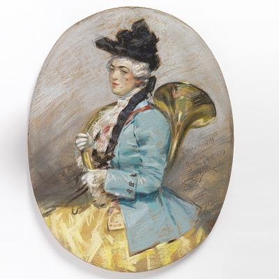 Portrait of Sarah Cooper Hewitt in French Costume