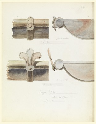 Two Copper Gutters, from a 16th-Century Castle, Blois, France
