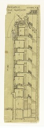 Plan for Rue Grueze 38, Cross Section, Coupe AB