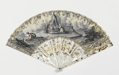 Pleated fan and case