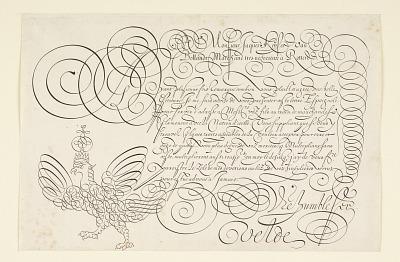 Writing Example from Spieghel der Schrijfkonste. Tweede Deel (The Mirror of Art Writing, Second Part)