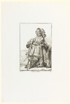 Chef des Indiens (Indian Chief), plate 8 from the series Caravanne du Sultan a la Mecque (Caravan of a Sultan Going to Mecca)