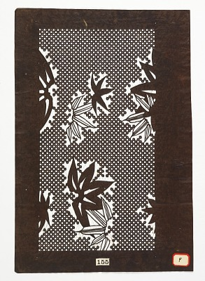 Fascimile pattern and bamboo leaves