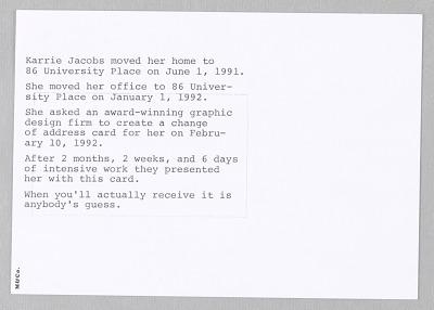 Karrie Jacobs: Change of Address