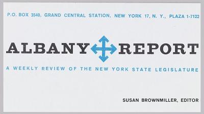 Albany Report, Inc., New York, NY