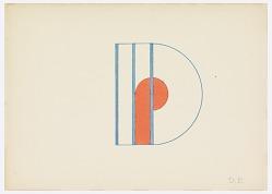 Design for a Monogram: D. P.