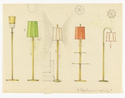 Designs for Five Floor lamps