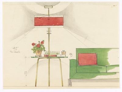 Design: Floor Lamp/Table Combination