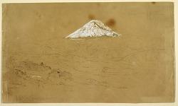 View of Snow Covered Mount Chimborazo Drawn Near Guanojo and Guaranda, Ecuador
