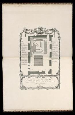 Plan du Lit de Justice (Plan of the Bed of Justice)